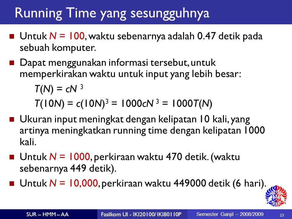 Running Time yang sesungguhnya