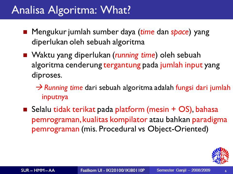 Analisa Algoritma: What