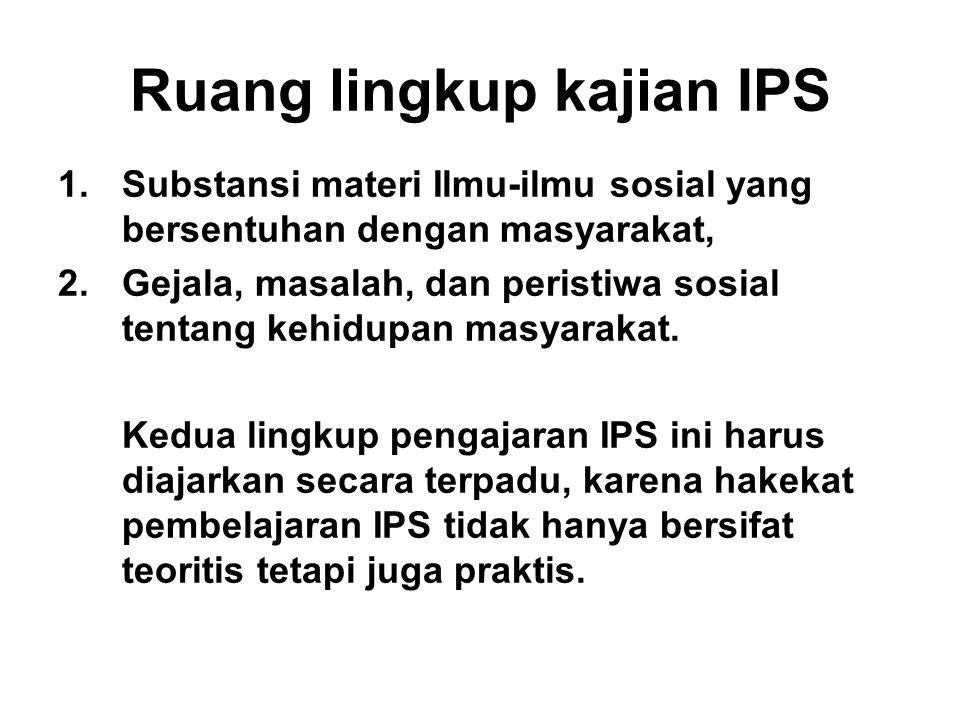 Ruang lingkup kajian IPS