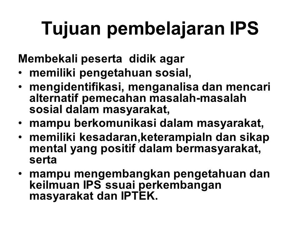 Tujuan pembelajaran IPS