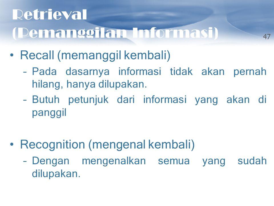 Retrieval (Pemanggilan Informasi)