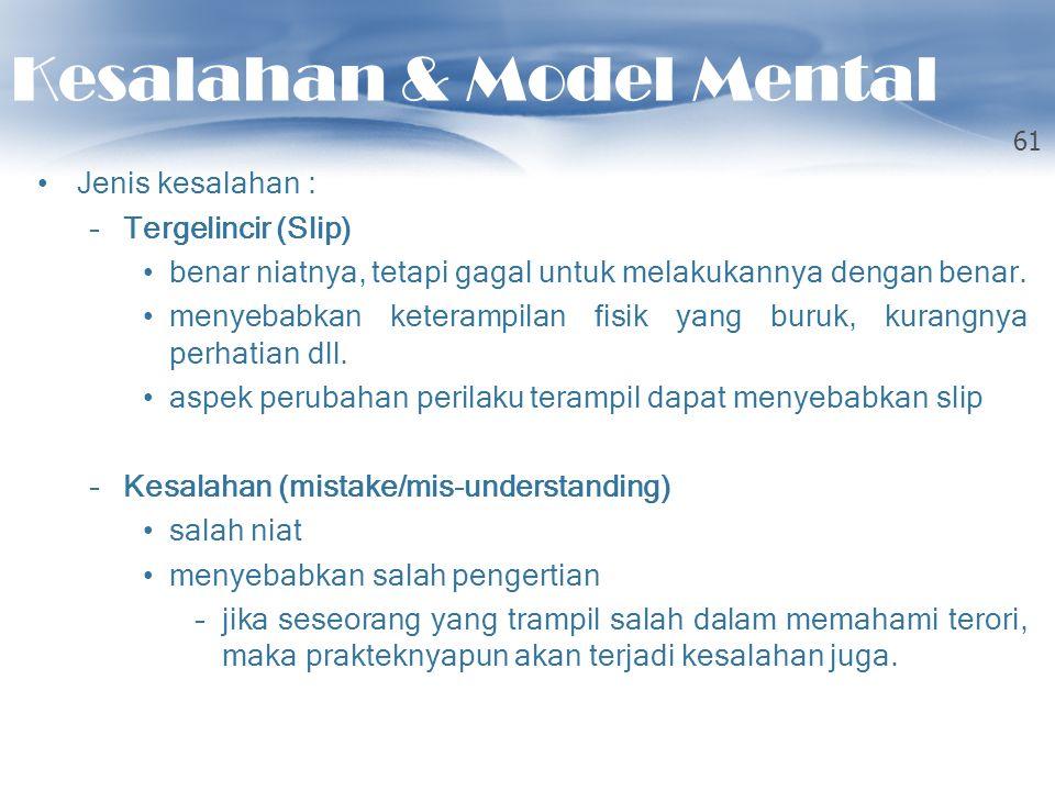 Kesalahan & Model Mental