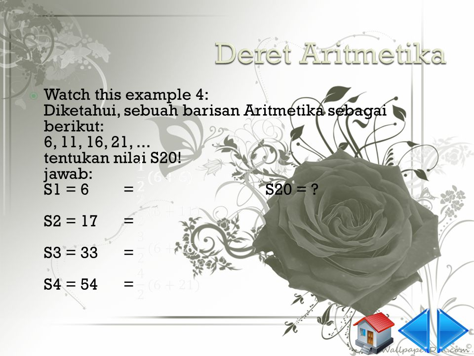 Deret Aritmetika Watch this example 4: