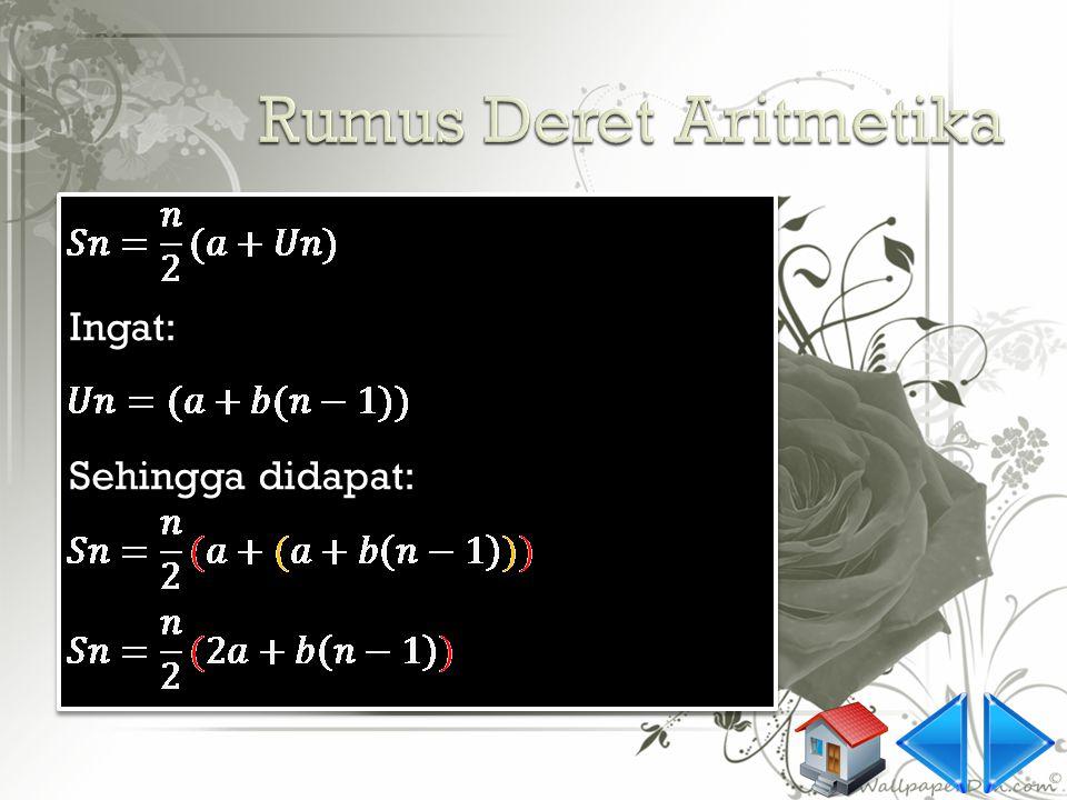 Rumus Deret Aritmetika
