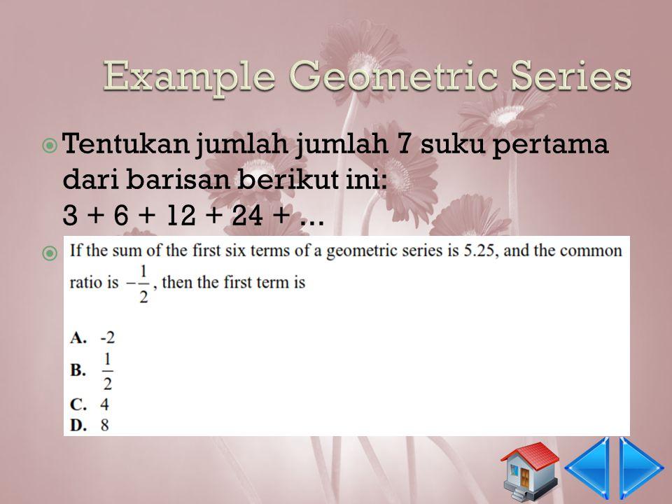 Example Geometric Series