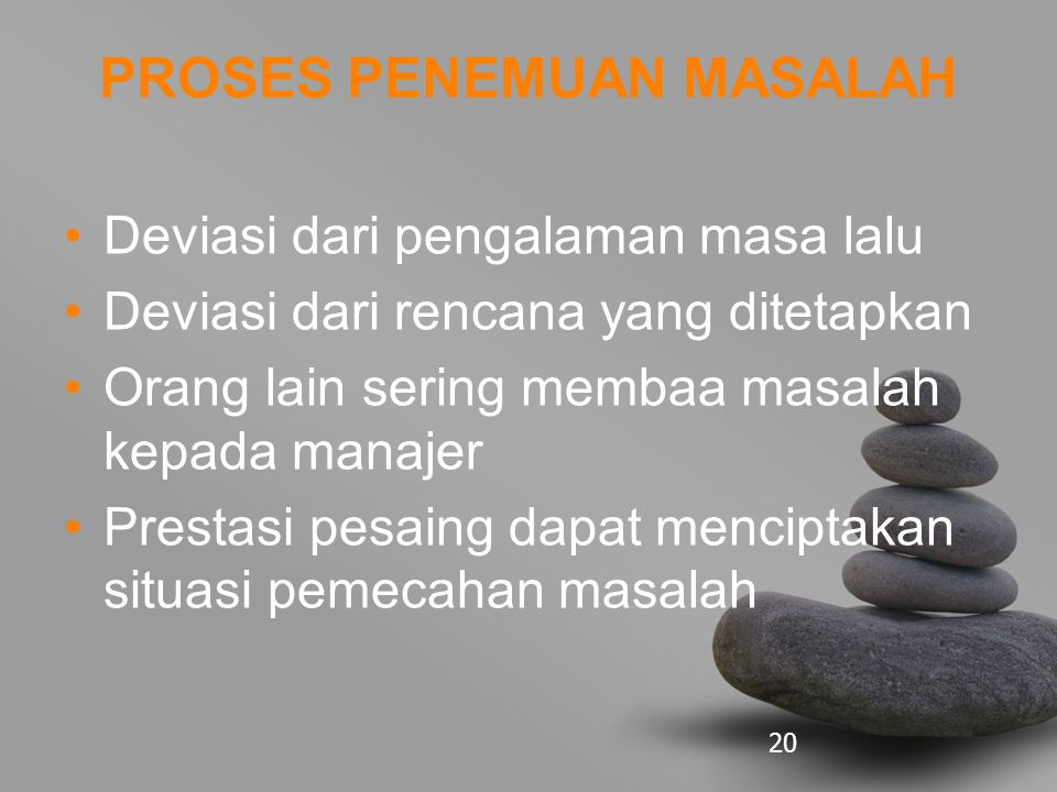 PROSES PENEMUAN MASALAH