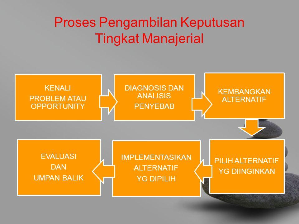 Proses Pengambilan Keputusan Tingkat Manajerial