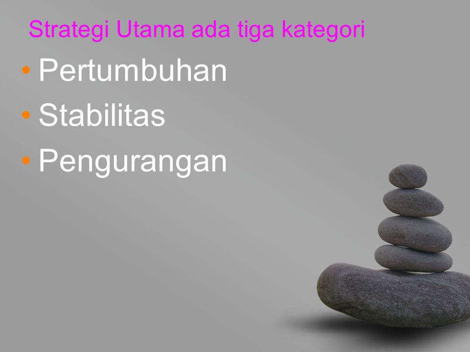 Strategi Utama ada tiga kategori