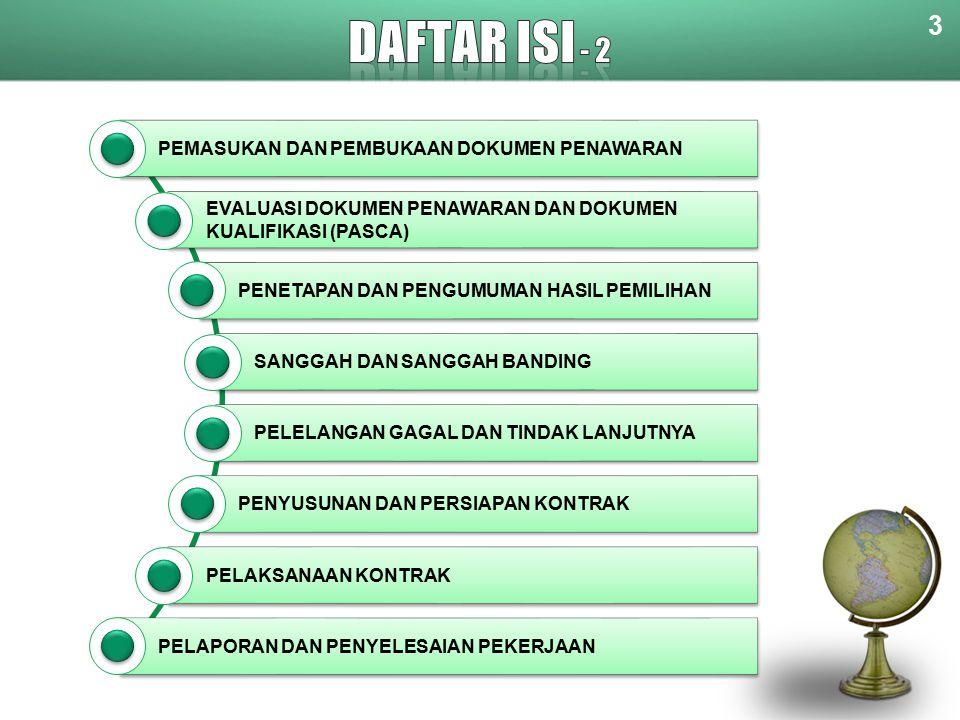 DAFTAR ISI - 2 3 PEMASUKAN DAN PEMBUKAAN DOKUMEN PENAWARAN
