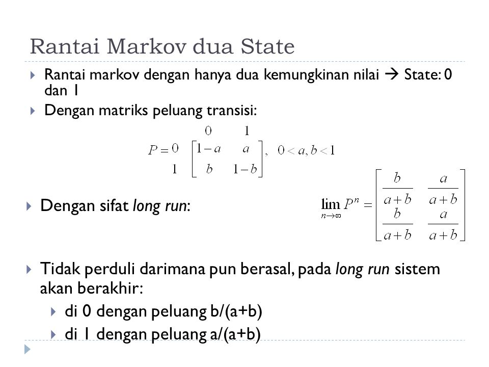 Rantai Markov dua State