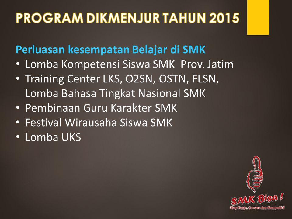 PROGRAM DIKMENJUR TAHUN 2015