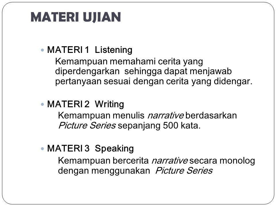 MATERI UJIAN MATERI 1 Listening