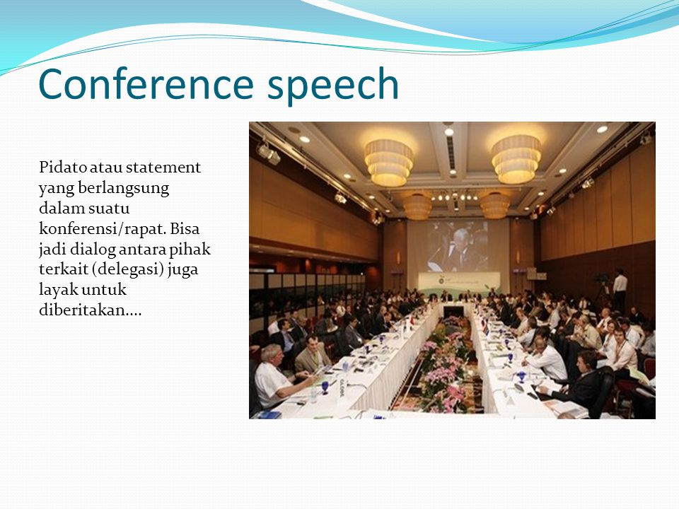 Conference speech