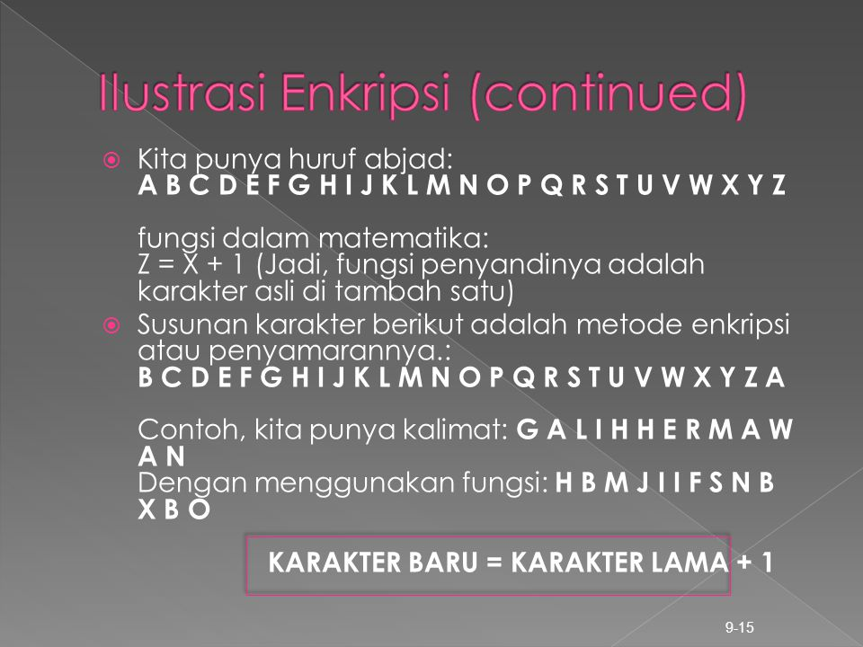 Ilustrasi Enkripsi (continued)