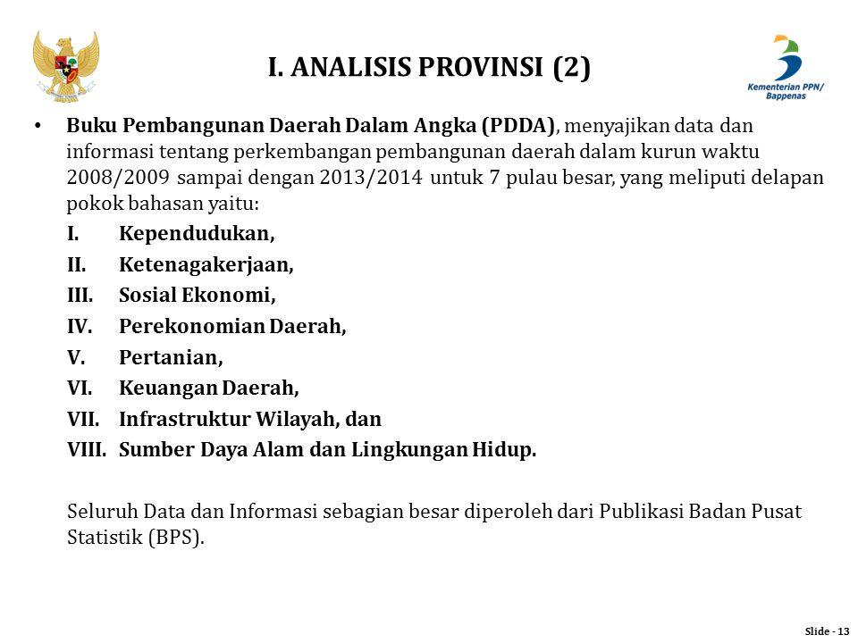 I. ANALISIS PROVINSI (2)