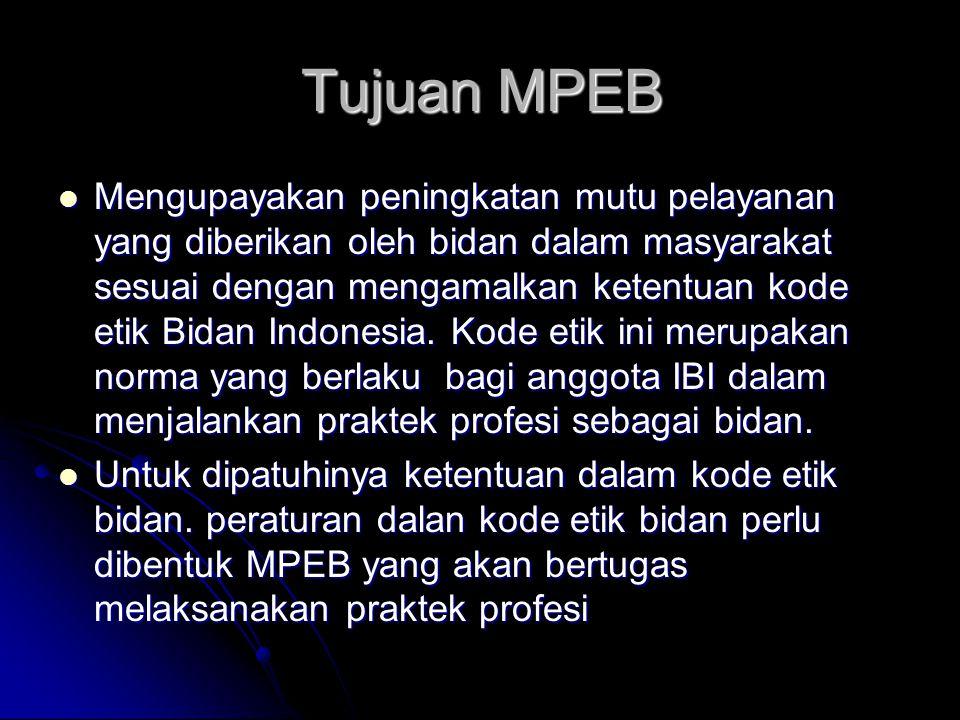 Tujuan MPEB