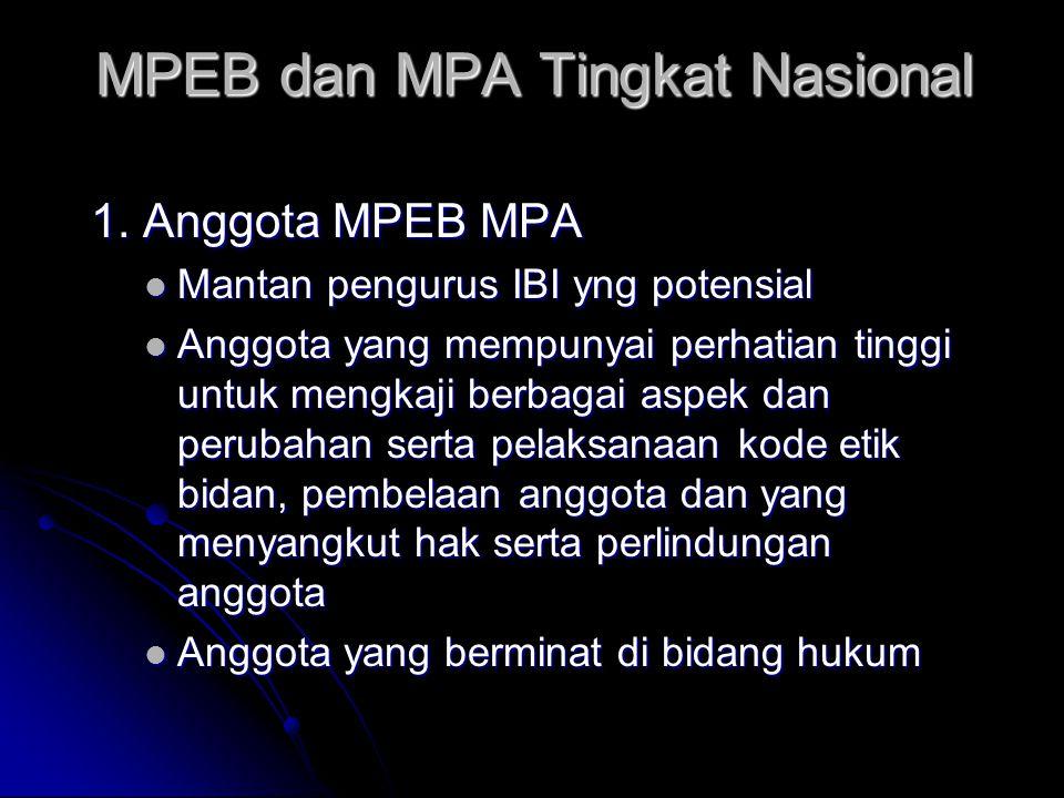 MPEB dan MPA Tingkat Nasional