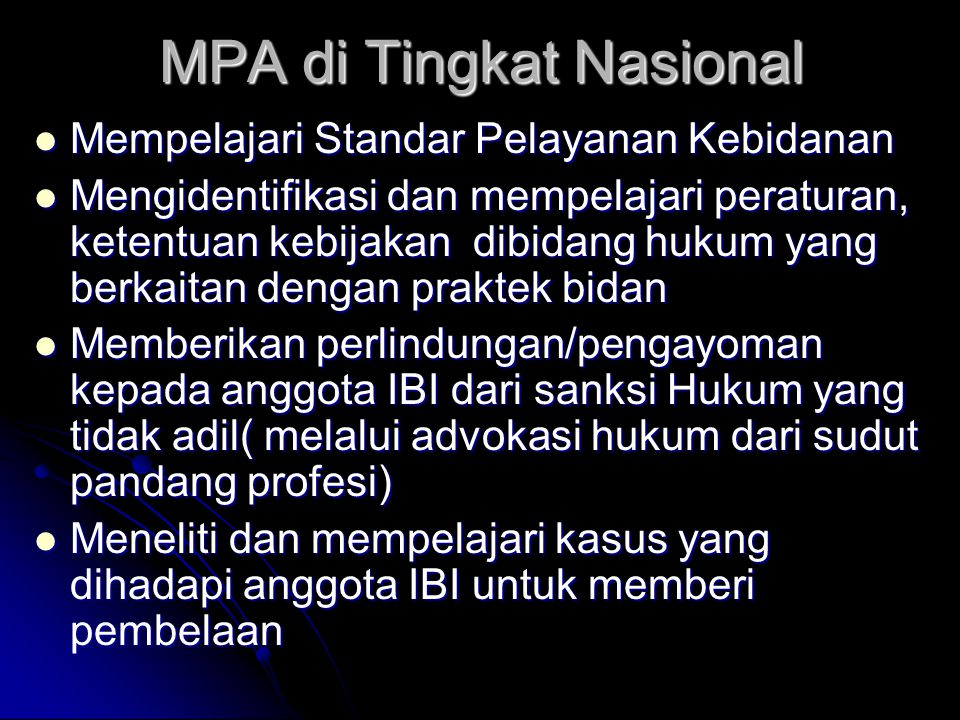 MPA di Tingkat Nasional