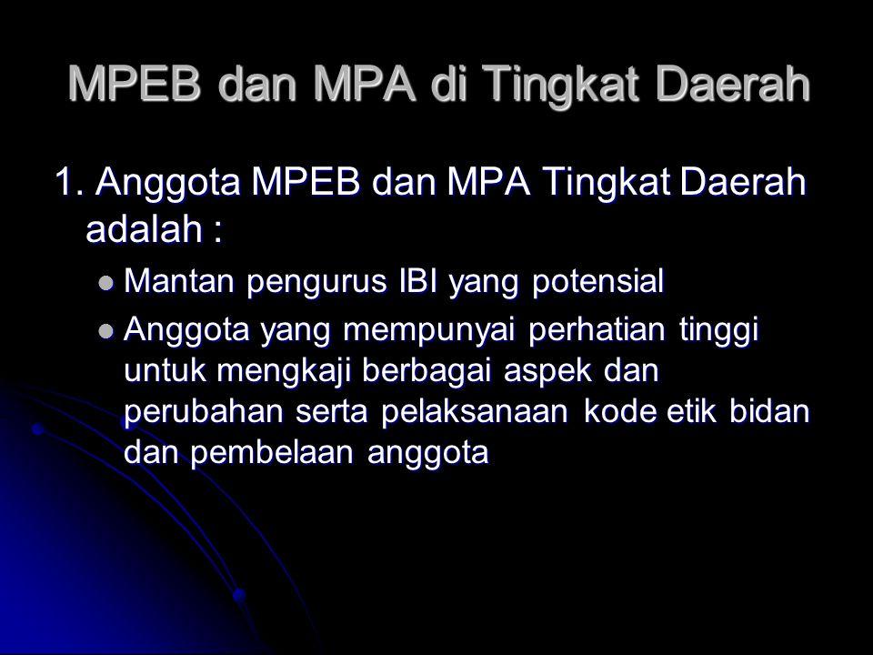 MPEB dan MPA di Tingkat Daerah