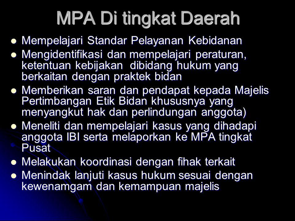 MPA Di tingkat Daerah Mempelajari Standar Pelayanan Kebidanan