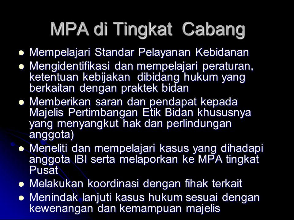 MPA di Tingkat Cabang Mempelajari Standar Pelayanan Kebidanan