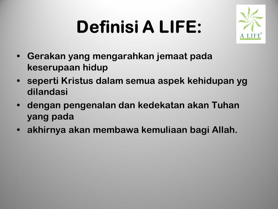 Definisi A LIFE: Gerakan yang mengarahkan jemaat pada keserupaan hidup
