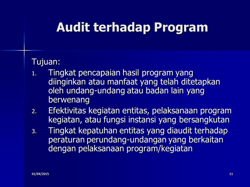 Audit terhadap Program