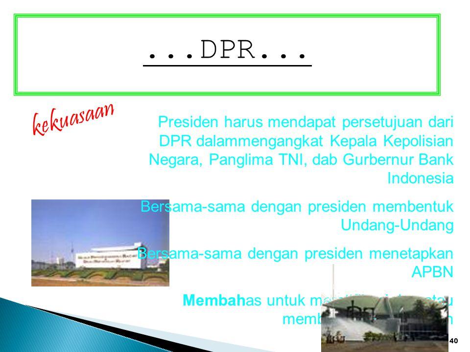 ...DPR... kekuasaan.