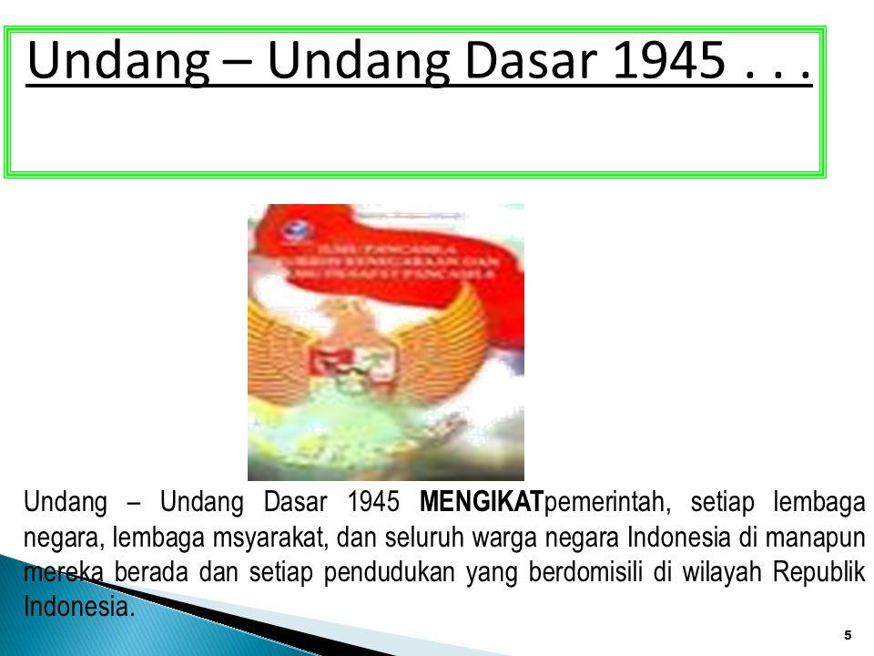 Undang – Undang Dasar 1945 . . .