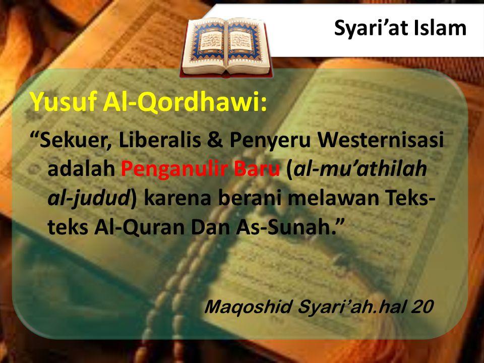 Yusuf Al-Qordhawi: Syari'at Islam