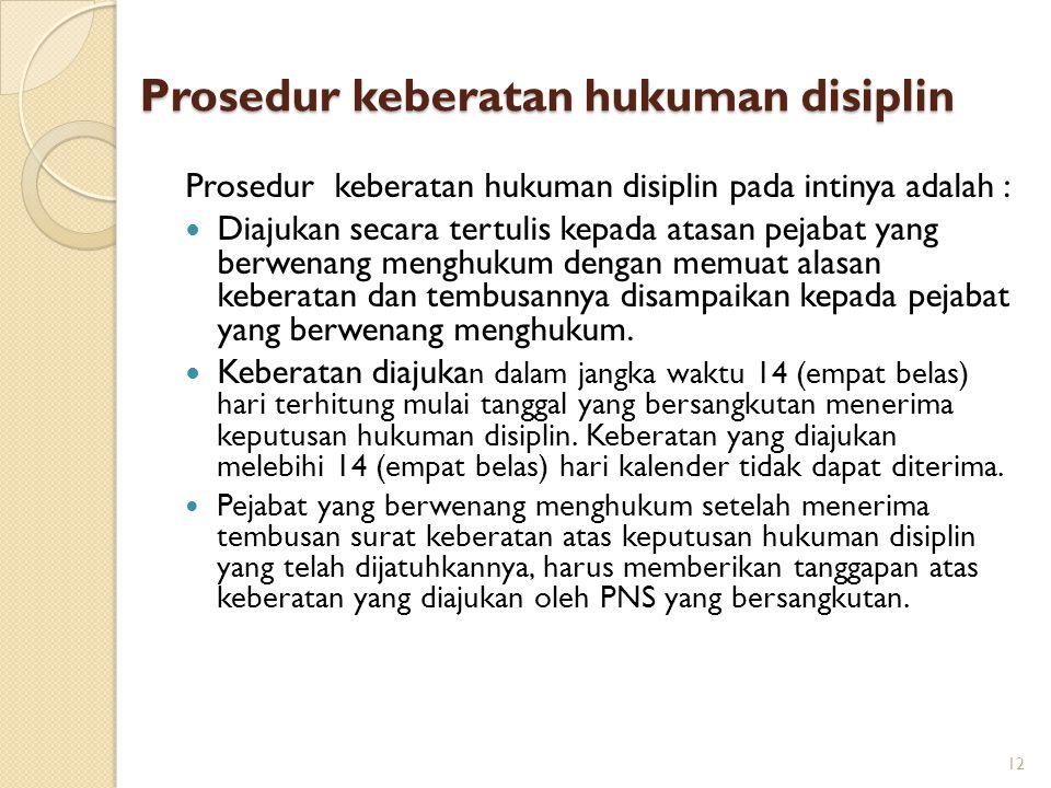 Prosedur keberatan hukuman disiplin