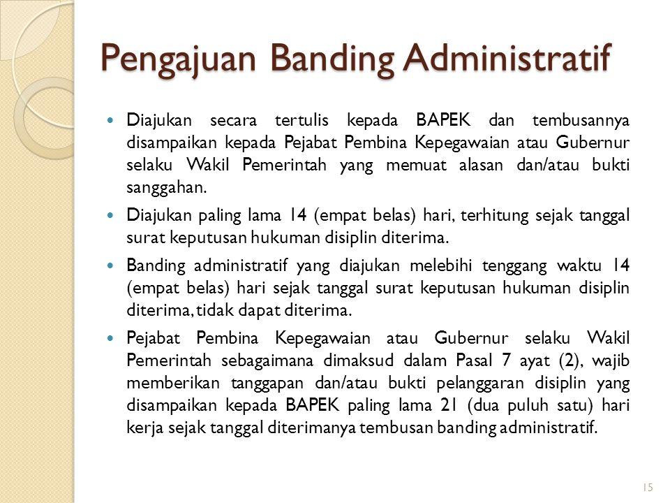 Pengajuan Banding Administratif