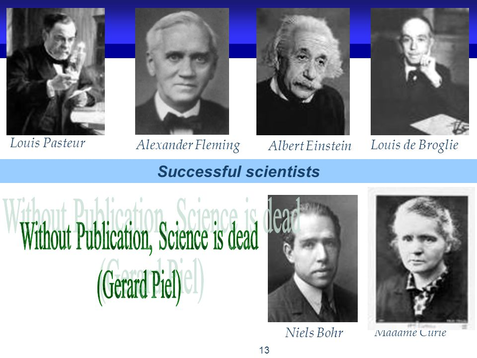 Successful scientists
