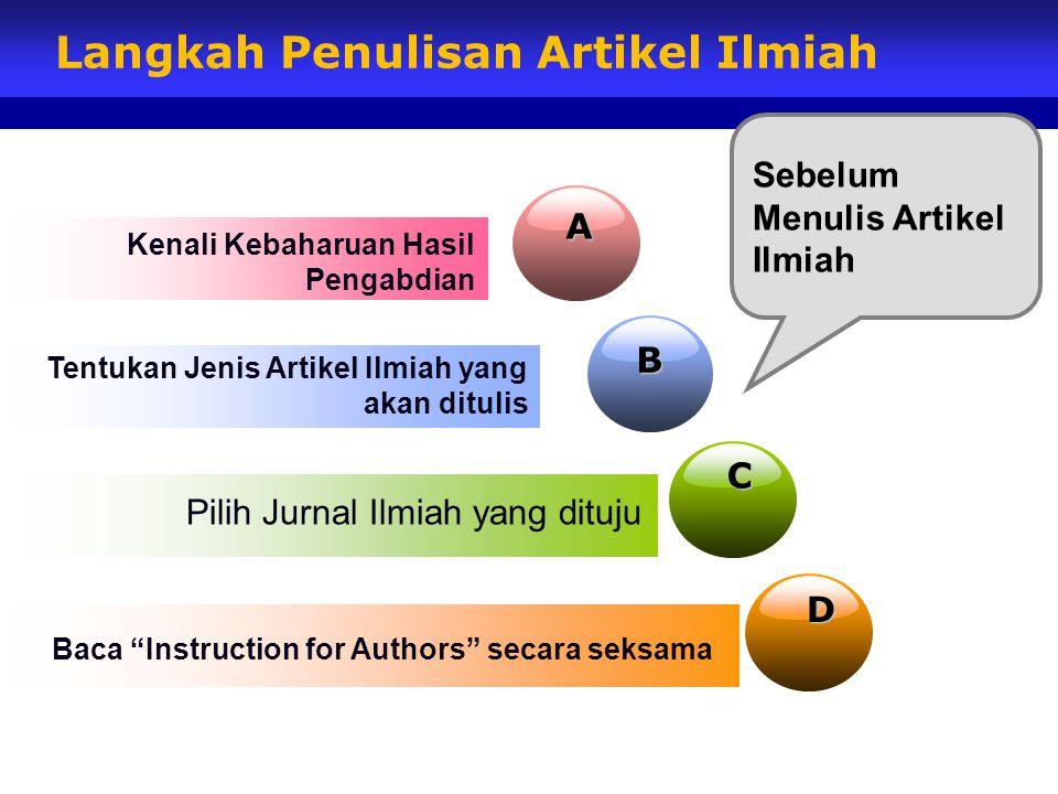 Langkah Penulisan Artikel Ilmiah