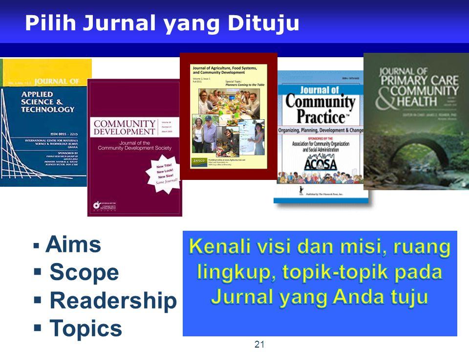 Pilih Jurnal yang Dituju