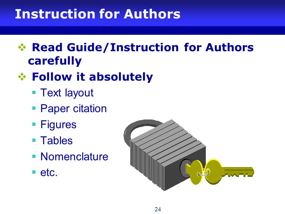Instruction for Authors