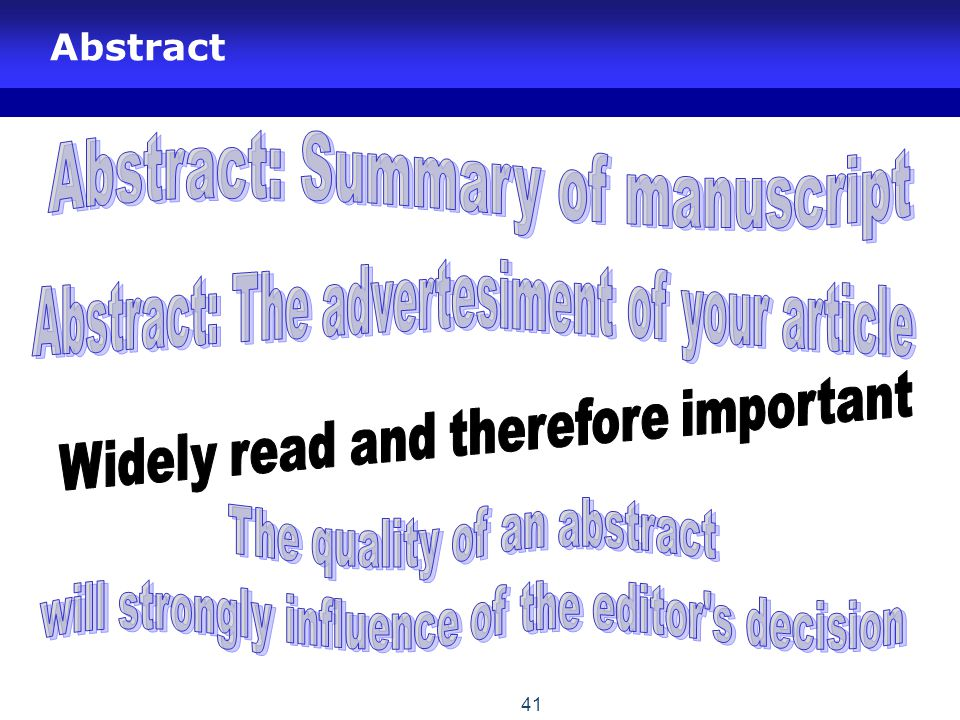Abstract: Summary of manuscript