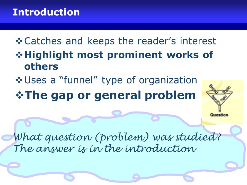 The gap or general problem