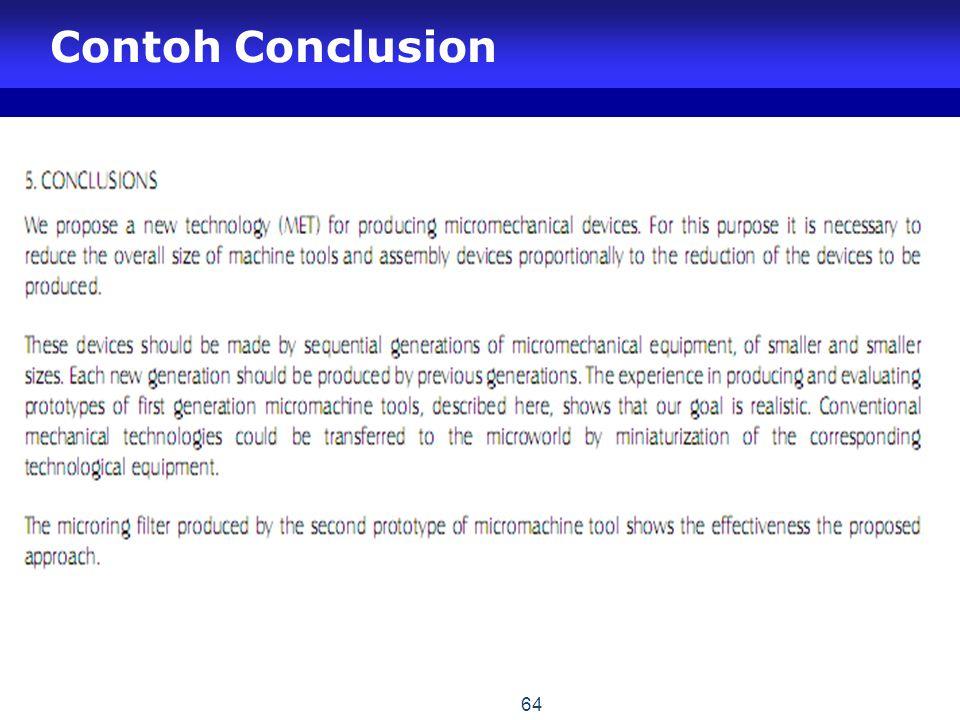 Contoh Conclusion