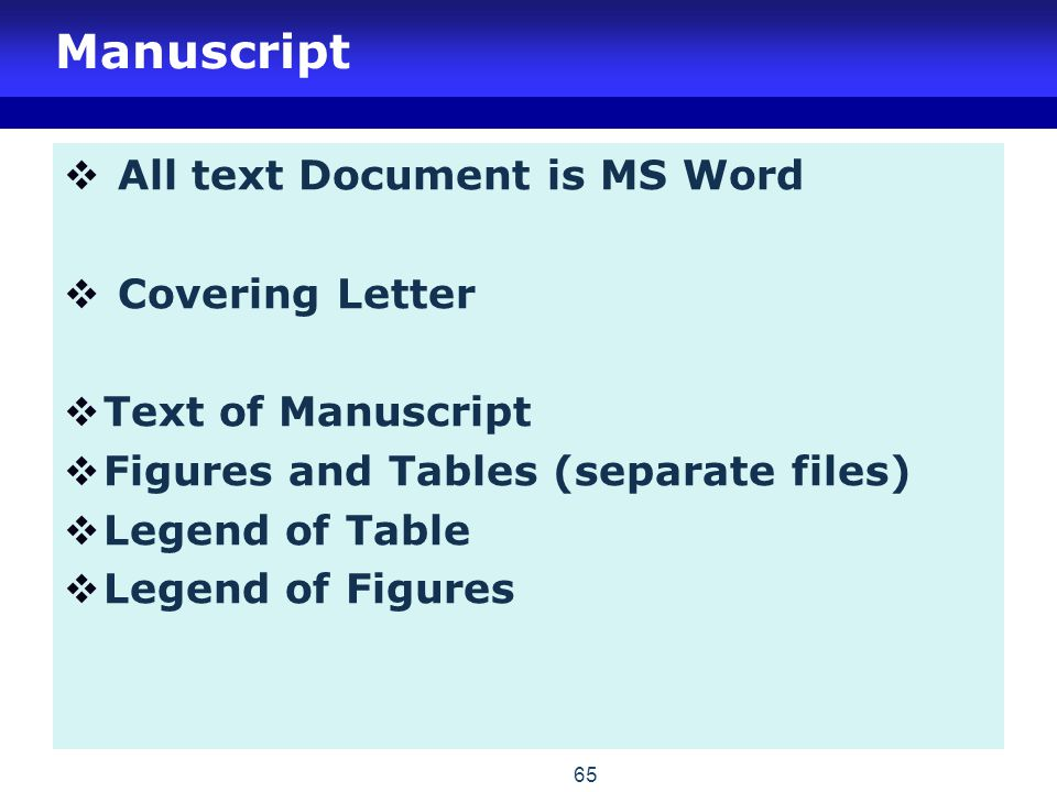 Manuscript All text Document is MS Word Covering Letter