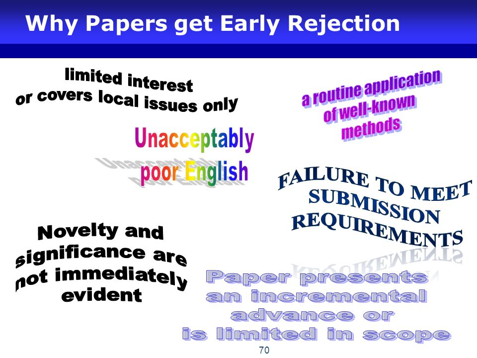 Why Papers get Early Rejection