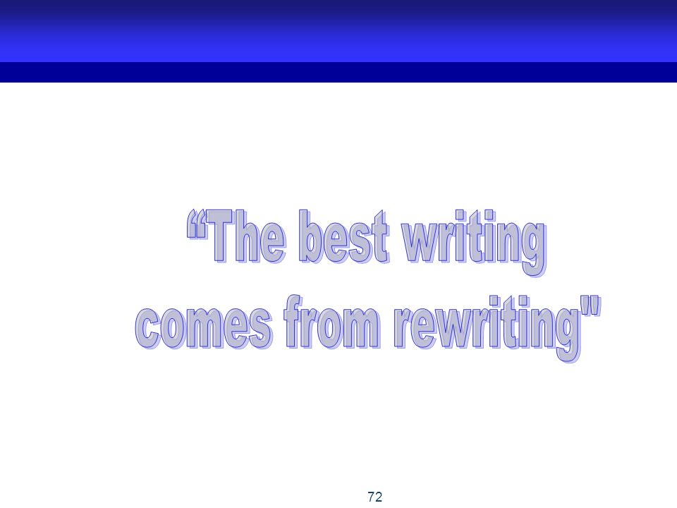 The best writing comes from rewriting