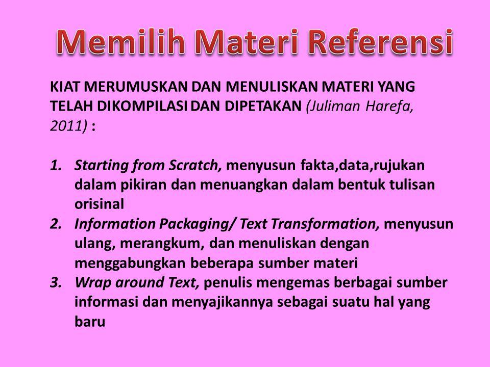 Memilih Materi Referensi