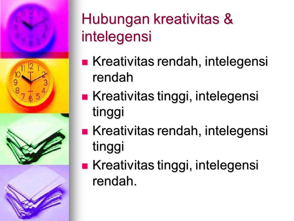 Hubungan kreativitas & intelegensi