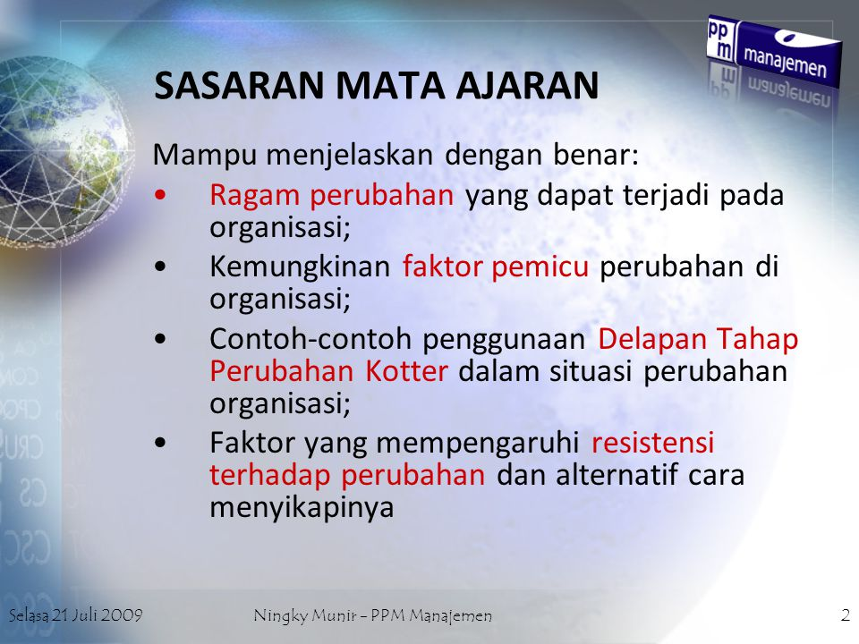 Ningky Munir - PPM Manajemen