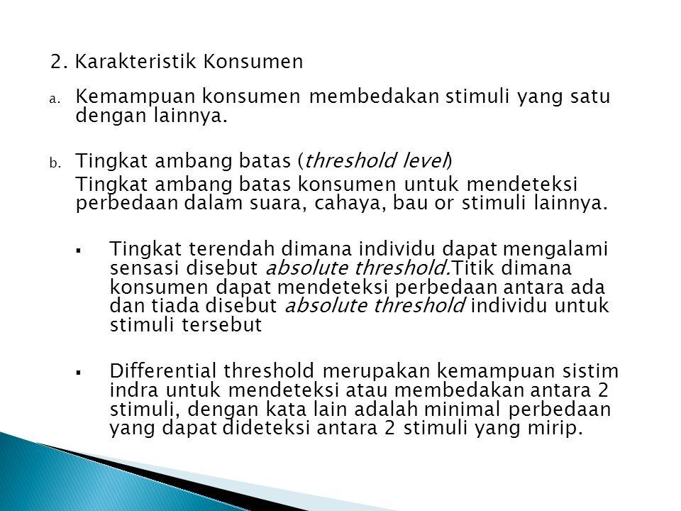 2. Karakteristik Konsumen