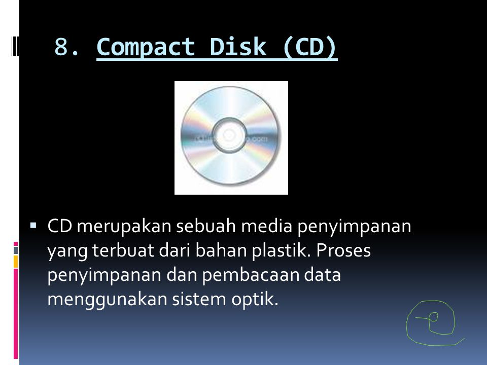 8. Compact Disk (CD)