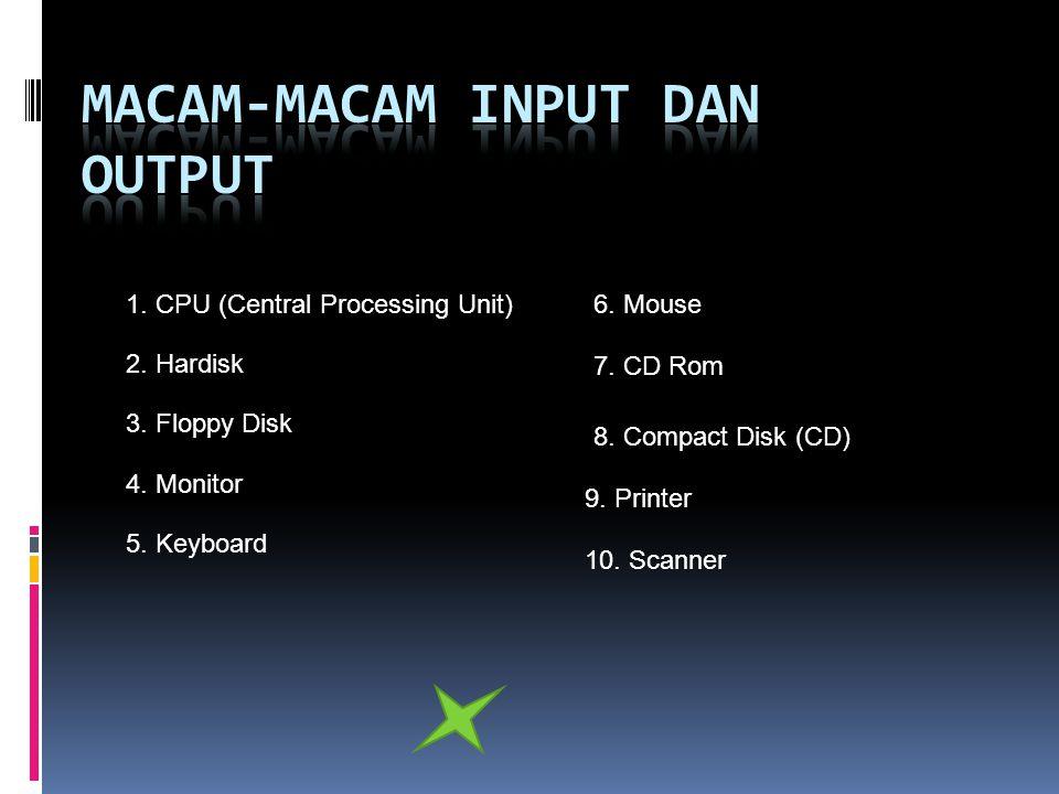 Macam-macam input dan output