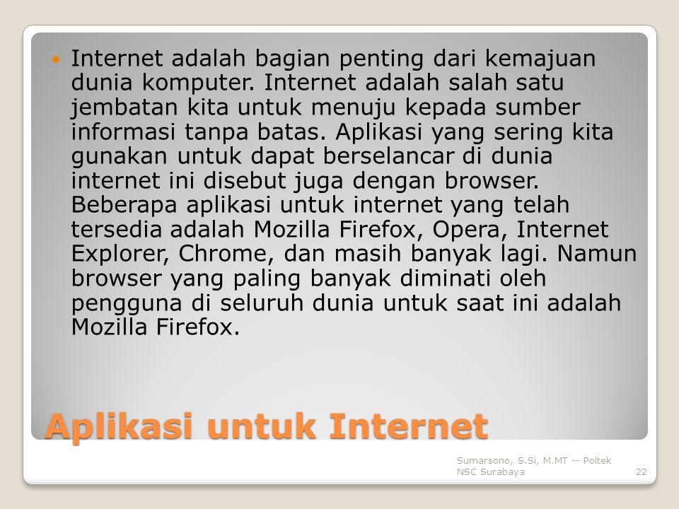 Aplikasi untuk Internet