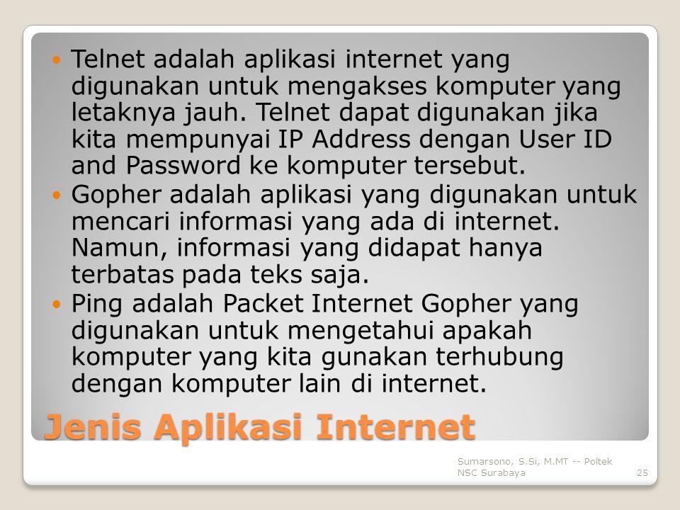 Jenis Aplikasi Internet